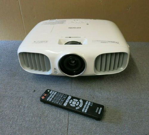 Epson EH-TW5900 H422B White LCD Projector With Remote Control 2152H